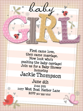 Product Image For Baby Girl Invitation