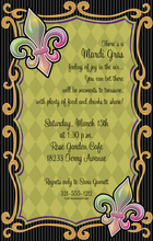 Product Image For Fun Fleur-do-lis Digital Invitation