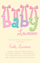 Product Image For Baby & Bows Pink Digital Invitation