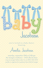 Product Image For Baby & Bows Blue Digital Invitation