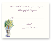 Product Image For Floral Canopy Ivory Response Card