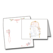 Product Image For Girl Christening Gown on Chair Notecard
