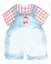 Product Image For Christmas Puppy Overalls Paper