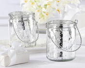 Product Image For Silverlight Mercury glass tealight Holder