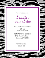 Product Image For Zebra Fun Invitation