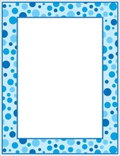 Product Image For Blue Polka Dots Letterhead