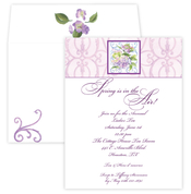 Product Image For Lavander Hydrangea Invitation