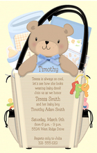 Product Image For Boy Diaper Bag invitation