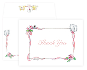 Product Image For Pink Christening and Baptism Notecard