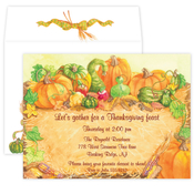 Product Image For Haystack Pumpkins invitation