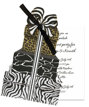 Product Image For Stacked Animal Print Boxex Die-Cut invitation