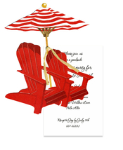 Product Image For Adirondack chair with Umbrella Die Cut