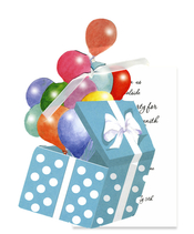 Product Image For Balloons in a Box Die Cut invitation