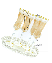 Product Image For <em>champagne</em> Plutes on Tray Die cut invitation