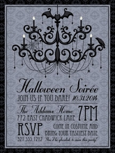 Product Image For Halloween chandelier Invitation