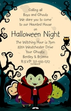 Product Image For Halloween Boys & Ghouls Invitation