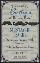 Product Image For Mustache Invitation