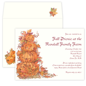 Product Image For Stacked Pumpkins Invitations