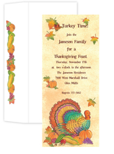 Product Image For Turkey Harvest Slim Invitation