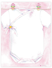 Product Image For Girl's Shirt on Clothesline Paper