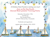 Product Image For Seasonal Sailing Boat Parade Invitation