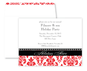 Product Image For Christmas Damask Formal Invitation