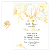 Product Image For Bridal Dress Invitations