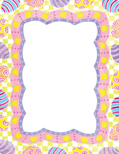 Product Image For Easter Egg Border Laser Paper