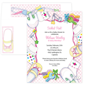 Product Image For Pretty In Pink Invitation