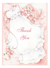 Product Image For Girl Christening Thank you Note Card