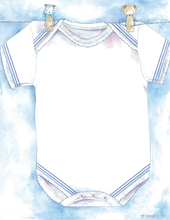 Product Image For Boy's Shirt on Clothesline Paper