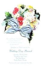 Product Image For Dusty Miller Blue silk Ribbon Invitatio