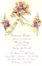 Product Image For Triple Bouquet with Silk ribbon invitation