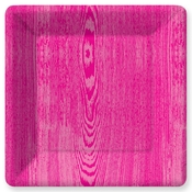 Product Image For Woodgrain -Magenta Dinner Plates