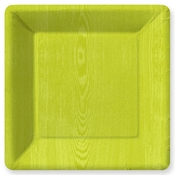 Product Image For Woodgrain Lime Green Dinner Plate