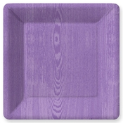 Product Image For Woodgrain Purple Dinner Plate
