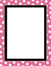 Product Image For Pink Polka Dot Laser paper