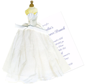 Product Image For Bridal Gown with Bodice Die-Cut invitation