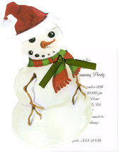 Product Image For Snowman with Santa Hat