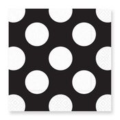 Product Image For Dotte Grande Black Luncheon Napkin