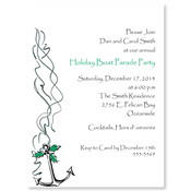 Product Image For Holiday Boat Parade Anchor Invitation