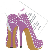 Product Image For Polkadot Shoes die cut invitation
