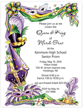 Product Image For Mardi Gras Cown Invitation