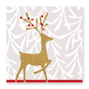 Product Image For Golden Reindeer Luncheon Napkin