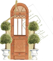 Product Image For Topiary Doorway Die-Cut invitation