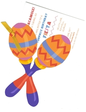 Product Image For Maracas  Die-Cut invitation
