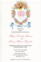 Product Image For Country Coat of Arms invitation