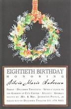 Product Image For Snow Pine Invitation