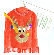 Product Image For Tacky Christmas Sweater Die Cut invitation