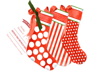 Product Image For Christmas Stockings Die Cut invitation